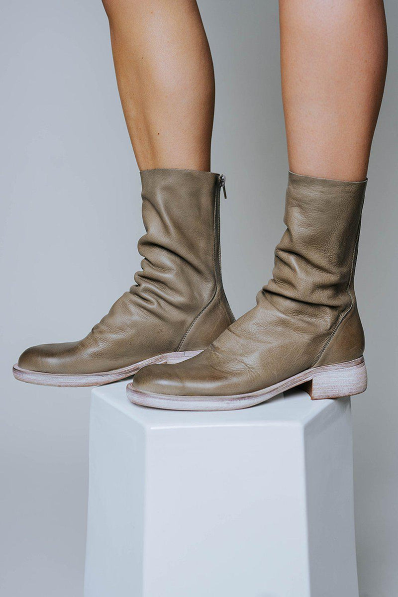 Clad and Cloth, Free People Sutton Tight Slouch Boot in Taupe, Clad & Cloth, Shoes.