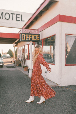 Clad and Cloth, Free People Sweet Escape Maxi Dress in Mocha Combo, Clad & Cloth, Dress.