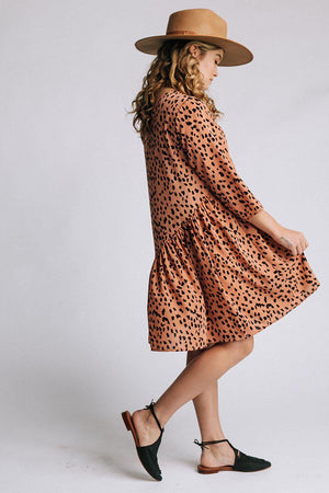 Gabriella Dress in Salmon, cladandcloth, n/a.
