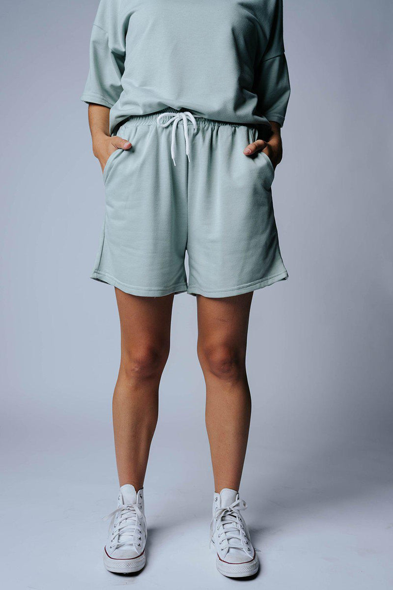 best_seller, Girl At Home Set in Sage - FINAL SALE, Bottom, women's clothing, dresses, skirts, coats, jackets, shoes, boots, tops, tee shirts, jeans, free people, levi's, rollas, jumpsuits, bottoms, tops, sweaters, pullovers, pants, shorts, sweats,.