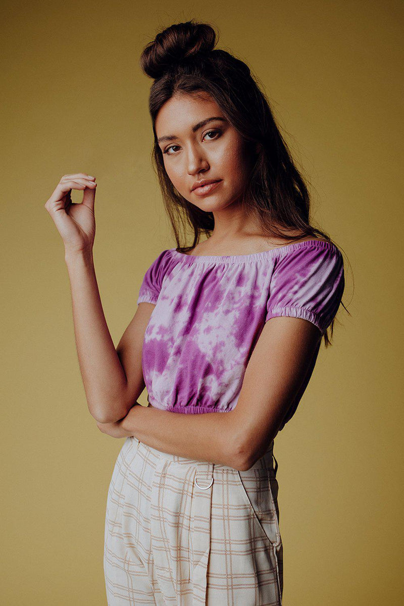 best_seller, Good Girls Tie Dye Top in Orchid, Top, women's clothing, dresses, skirts, coats, jackets, shoes, boots, tops, tee shirts, jeans, free people, levi's, rollas, jumpsuits, bottoms, tops, sweaters, pullovers, pants, shorts, sweats,.