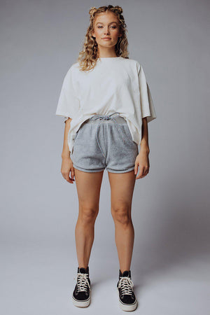 best_seller, Hang Time Short in Heather Grey - FINAL SALE, Bottom, women's clothing, dresses, skirts, coats, jackets, shoes, boots, tops, tee shirts, jeans, free people, levi's, rollas, jumpsuits, bottoms, tops, sweaters, pullovers, pants, shorts, sweats,.