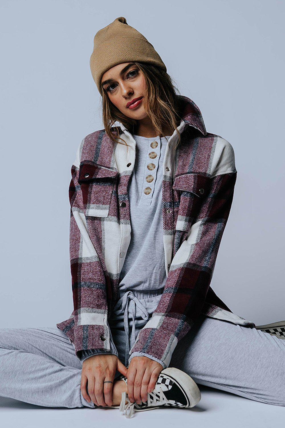 Harvest Moon Plaid Jacket-Top-n/a-XS-Clad & Cloth