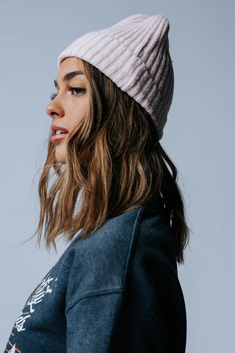 Heads Up Beanie in Pink-Accessory-LessTag-OS-Clad & Cloth
