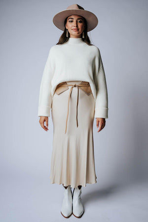 best_seller, Hey Now Midi Skirt in Beige - FINAL SALE, Skirt, women's clothing, dresses, skirts, coats, jackets, shoes, boots, tops, tee shirts, jeans, free people, levi's, rollas, jumpsuits, bottoms, tops, sweaters, pullovers, pants, shorts, sweats,.