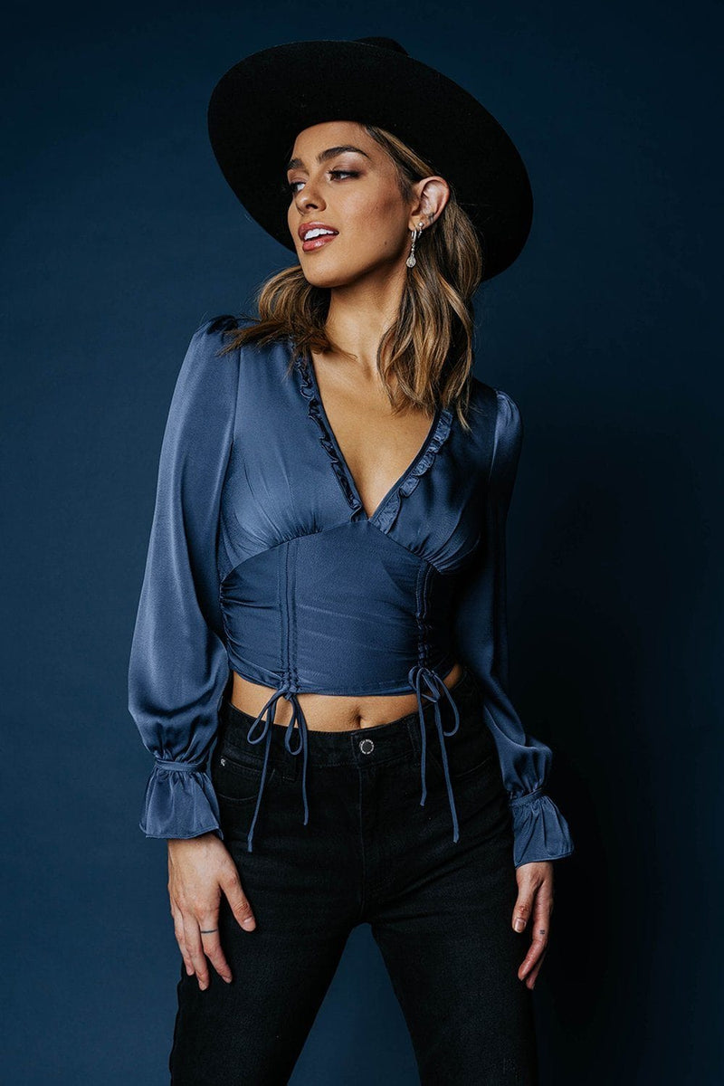 Hold Me Tight Top in Midnight-Top-n/a-XS-Clad & Cloth