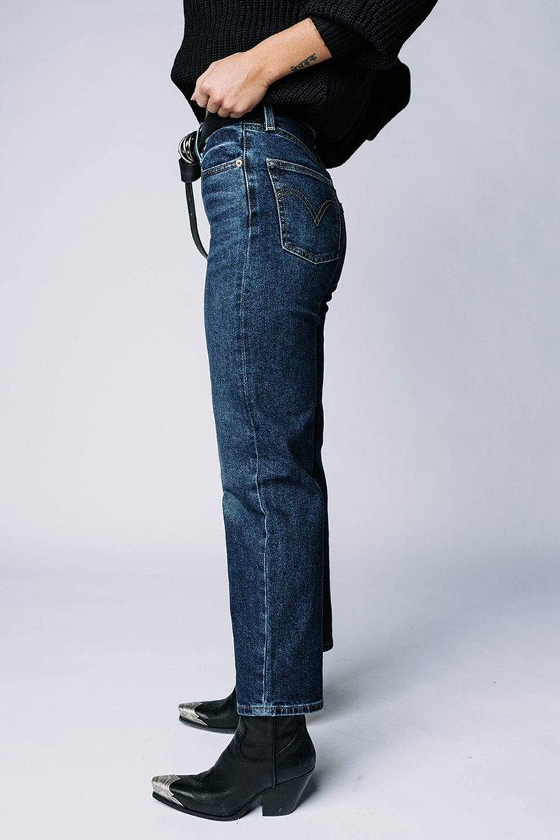 Clad and Cloth, Levi's Ribcage Straight Ankle Jean in Pick a Draw, Levi's, Bottom.