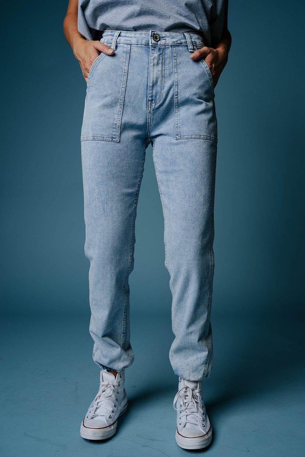 best_seller, Jump Around Denim Joggers, Bottom, women's clothing, dresses, skirts, coats, jackets, shoes, boots, tops, tee shirts, jeans, free people, levi's, rollas, jumpsuits, bottoms, tops, sweaters, pullovers, pants, shorts, sweats,.
