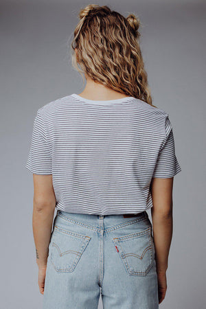 best_seller, Keep it Real Striped Tee - FINAL SALE, Tees, women's clothing, dresses, skirts, coats, jackets, shoes, boots, tops, tee shirts, jeans, free people, levi's, rollas, jumpsuits, bottoms, tops, sweaters, pullovers, pants, shorts, sweats,.