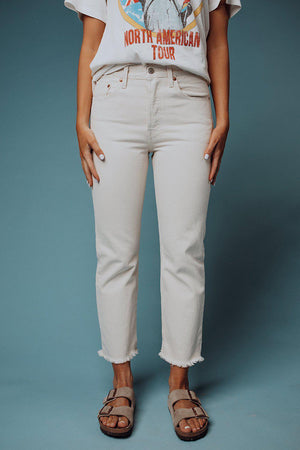 Levi's 501 Crop in Neutral Ground, cladandcloth, n/a.