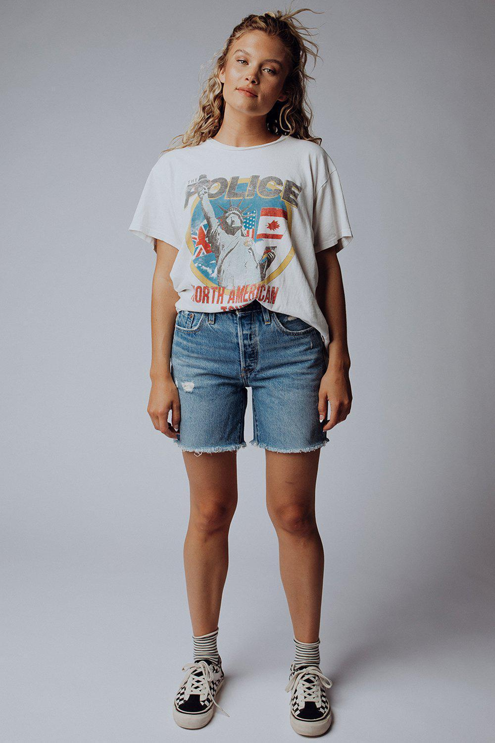 best_seller, Levi's 501 Mid Thigh Cut Off Shorts in Luxor Street - FINAL SALE, Bottom, women's clothing, dresses, skirts, coats, jackets, shoes, boots, tops, tee shirts, jeans, free people, levi's, rollas, jumpsuits, bottoms, tops, sweaters, pullovers, pants, shorts, sweats,.