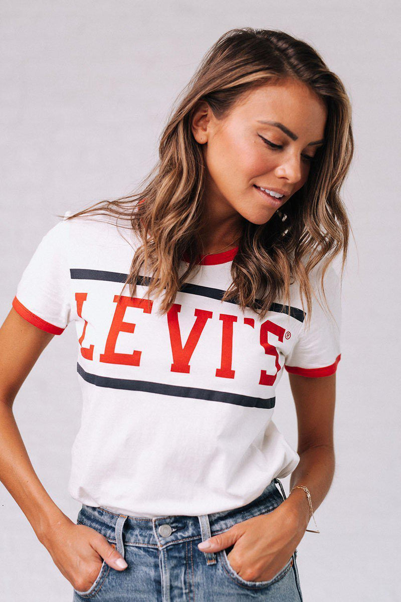 Clad and Cloth, Levi's Perfect Ringer Tee, Levi's, Top.