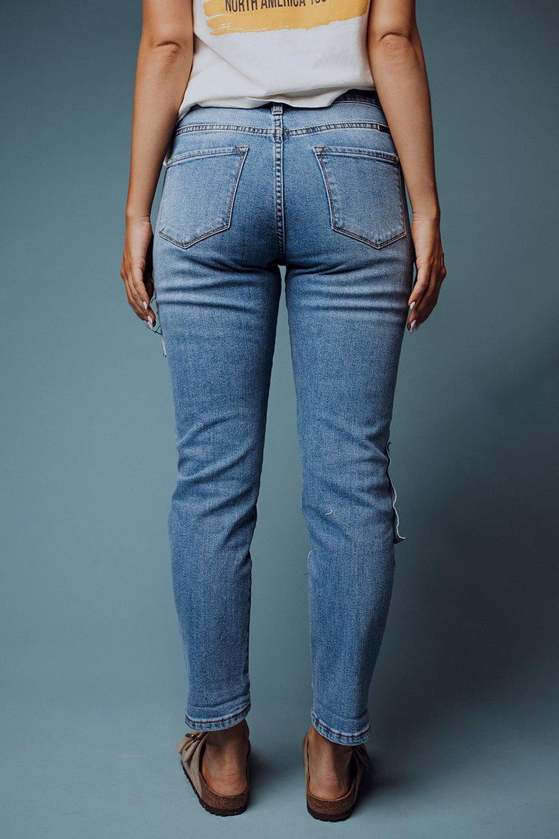 best_seller, Liberty Patched Jeans - FINAL SALE, Bottom, women's clothing, dresses, skirts, coats, jackets, shoes, boots, tops, tee shirts, jeans, free people, levi's, rollas, jumpsuits, bottoms, tops, sweaters, pullovers, pants, shorts, sweats,.