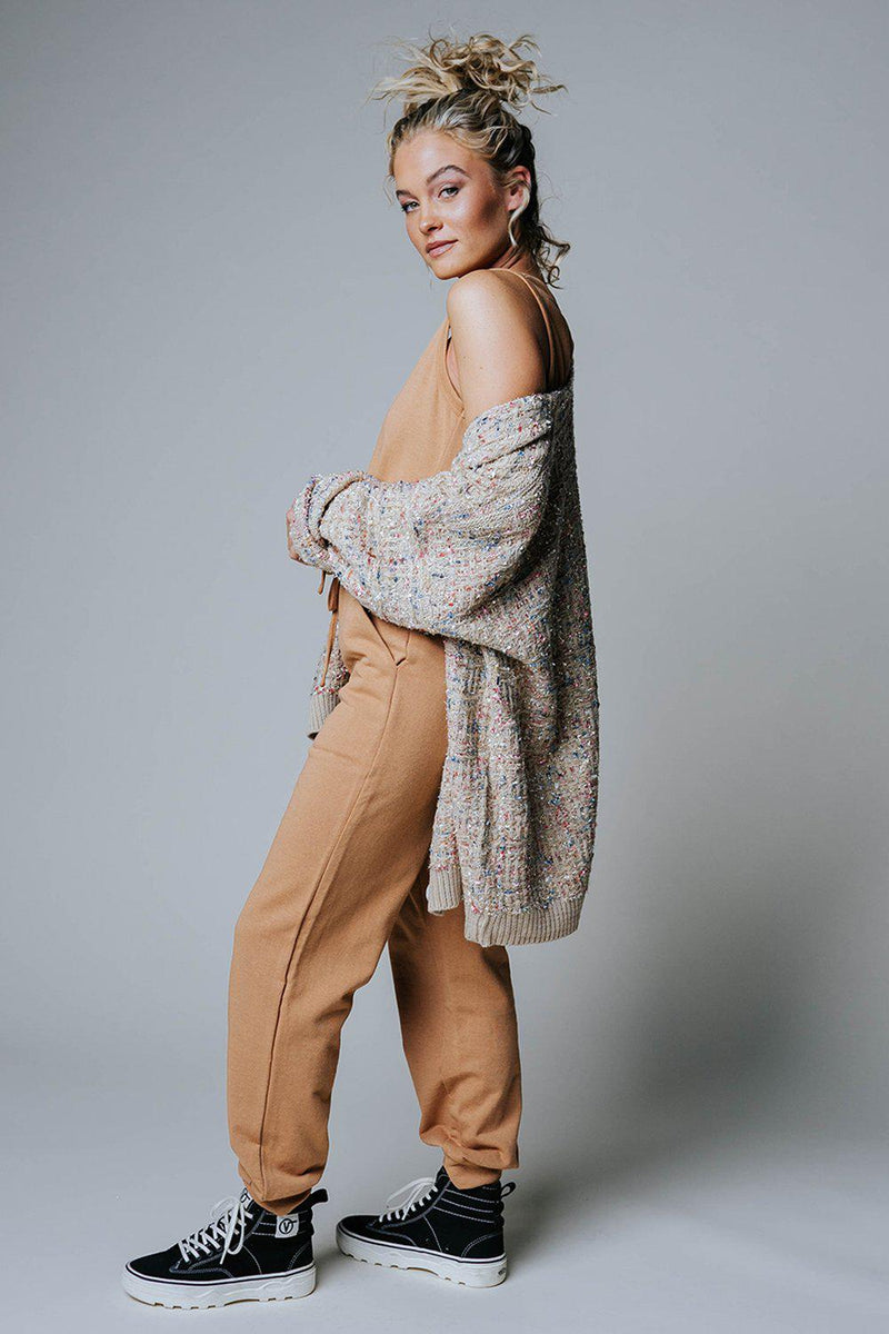 Light it Up Sweater in Taupe, cladandcloth, hyfve.