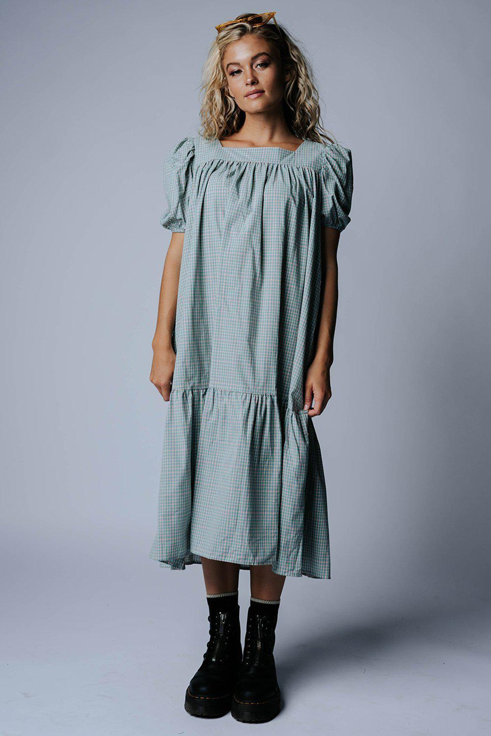 best_seller, Long Live Check Plaid Maxi Dress - FINAL SALE, Dress, women's clothing, dresses, skirts, coats, jackets, shoes, boots, tops, tee shirts, jeans, free people, levi's, rollas, jumpsuits, bottoms, tops, sweaters, pullovers, pants, shorts, sweats,.