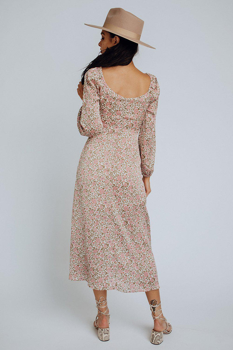 best_seller, Loretta Floral Midi Dress, , women's clothing, dresses, skirts, coats, jackets, shoes, boots, tops, tee shirts, jeans, free people, levi's, rollas, jumpsuits, bottoms, tops, sweaters, pullovers, pants, shorts, sweats,.