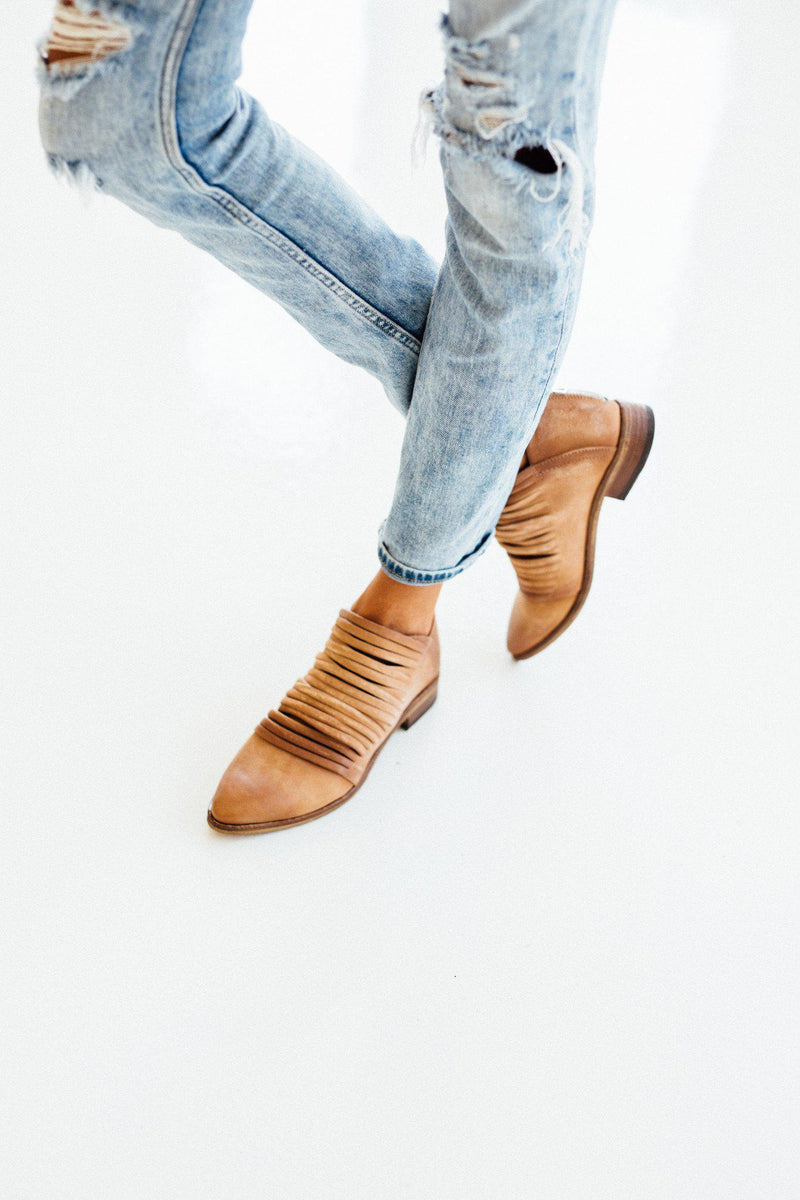 Clad and Cloth, Lost Valley Ankle Boot in Tan  by Free People, Free People, Shoes.