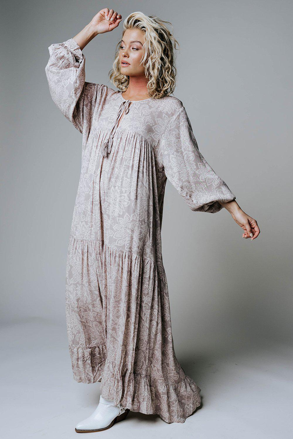 Melrose Avenue Paisley Maxi Dress-Dress-n/a-S-Clad & Cloth