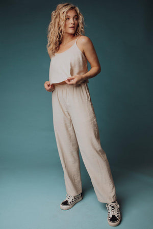 best_seller, Mia Linen Set in Cream - FINAL SALE, Set, women's clothing, dresses, skirts, coats, jackets, shoes, boots, tops, tee shirts, jeans, free people, levi's, rollas, jumpsuits, bottoms, tops, sweaters, pullovers, pants, shorts, sweats,.