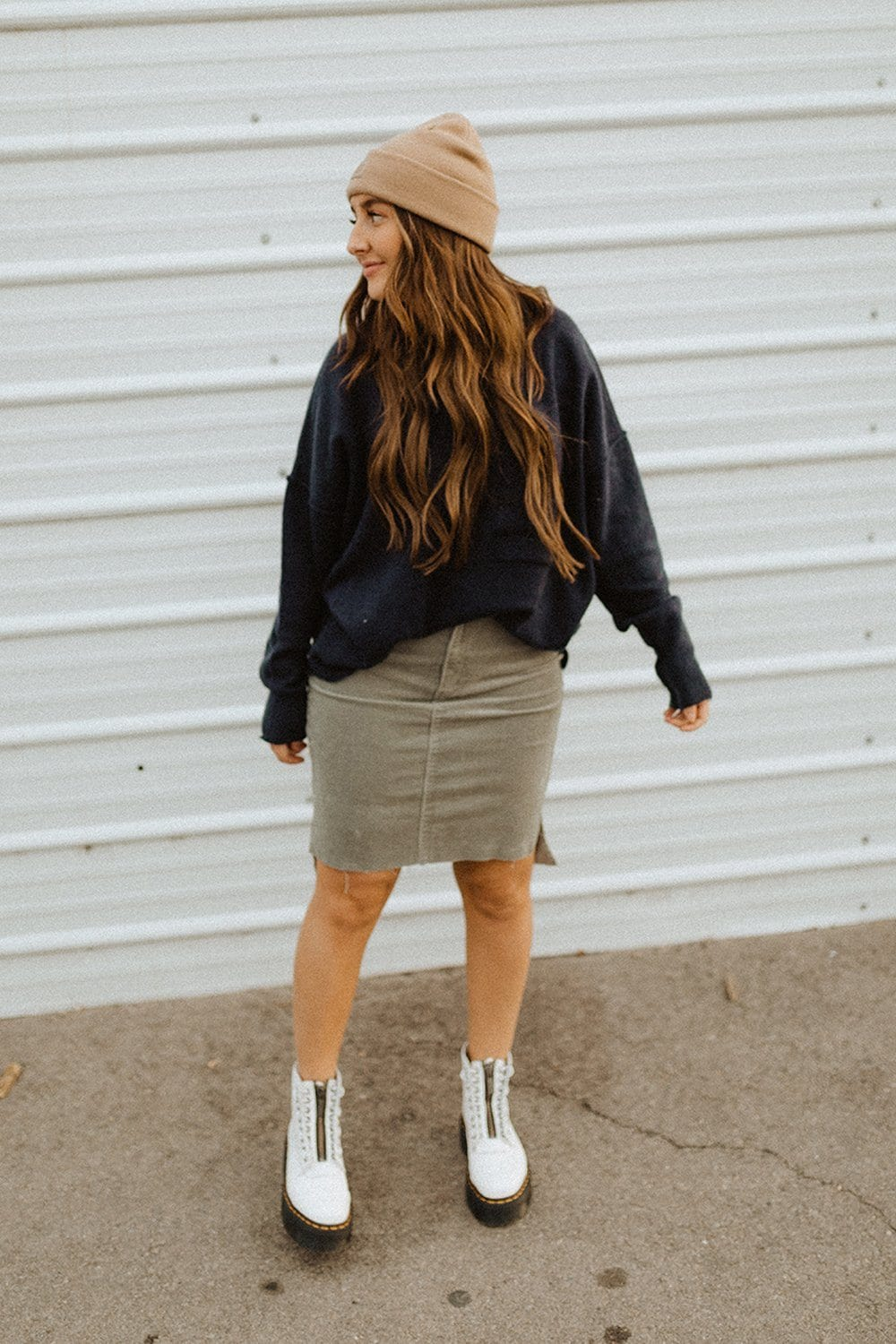 Miss You Lots Corduroy Midi Skirt-Skirt-n/a-S-Clad & Cloth
