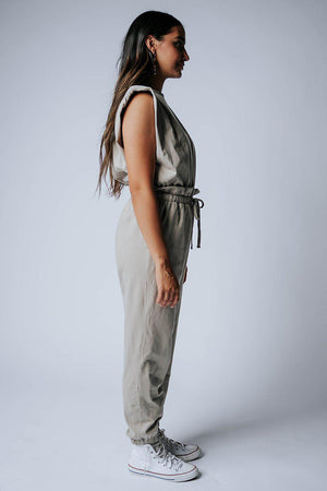 Clad and Cloth, My Go To Jumpsuit in Beige, Clad & Cloth, Bottom.