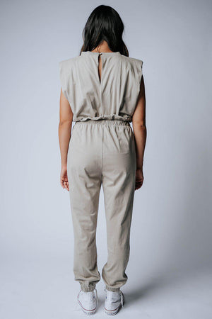 best_seller, My Go To Jumpsuit in Beige - FINAL SALE, Bottom, women's clothing, dresses, skirts, coats, jackets, shoes, boots, tops, tee shirts, jeans, free people, levi's, rollas, jumpsuits, bottoms, tops, sweaters, pullovers, pants, shorts, sweats,.