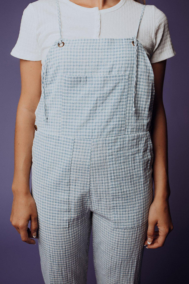 best_seller, New & Improved Gingham Overall - FINAL SALE, Bottom, women's clothing, dresses, skirts, coats, jackets, shoes, boots, tops, tee shirts, jeans, free people, levi's, rollas, jumpsuits, bottoms, tops, sweaters, pullovers, pants, shorts, sweats,.