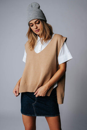 best_seller, No Interruptions Sweater Vest in Mocha, Top, women's clothing, dresses, skirts, coats, jackets, shoes, boots, tops, tee shirts, jeans, free people, levi's, rollas, jumpsuits, bottoms, tops, sweaters, pullovers, pants, shorts, sweats,.