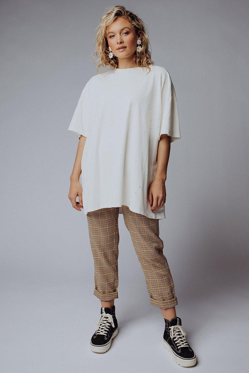 best_seller, Not Your Boyfriend's Tee in White, Tees, women's clothing, dresses, skirts, coats, jackets, shoes, boots, tops, tee shirts, jeans, free people, levi's, rollas, jumpsuits, bottoms, tops, sweaters, pullovers, pants, shorts, sweats,.