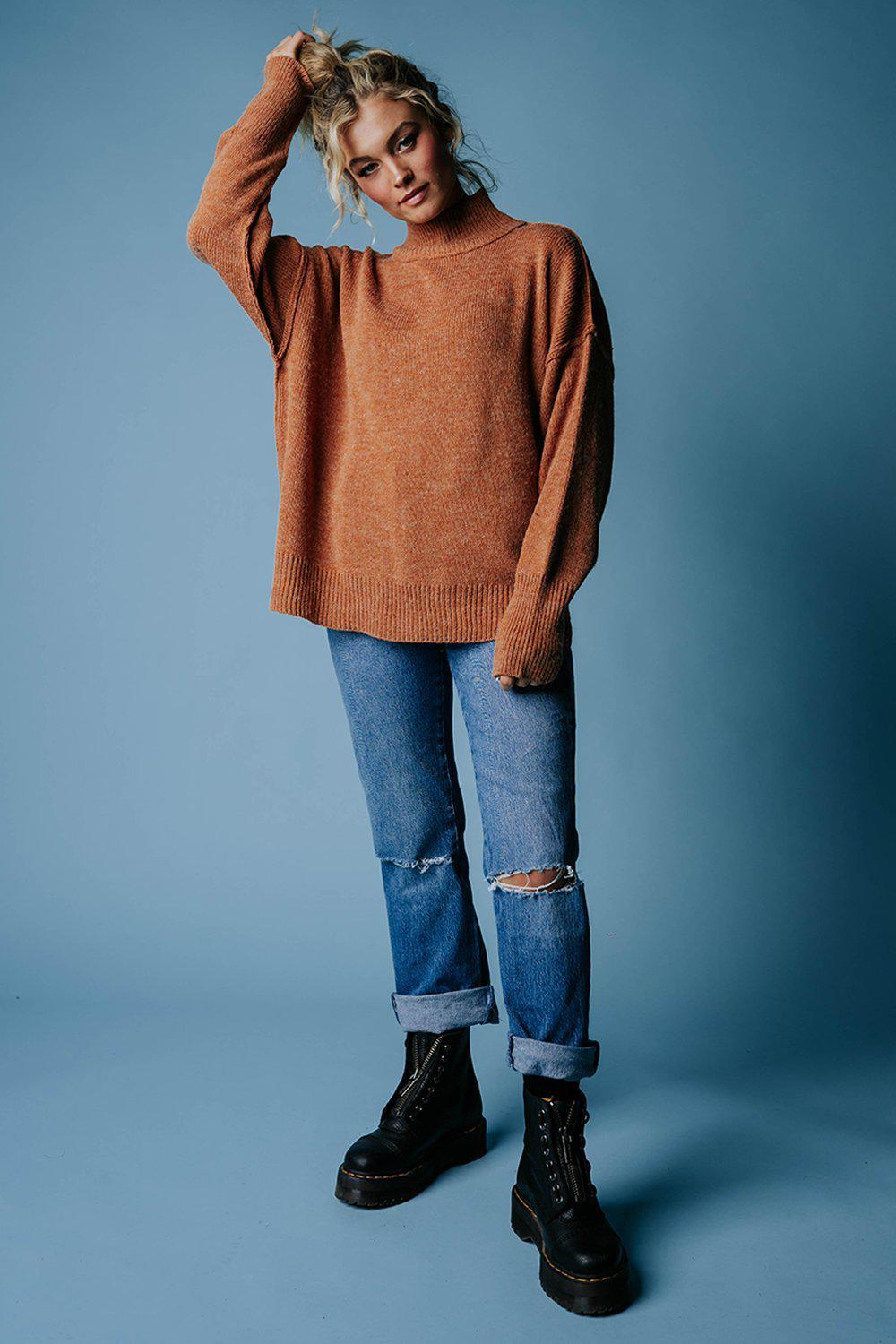best_seller, One Man Show Pullover in Camel, Top, women's clothing, dresses, skirts, coats, jackets, shoes, boots, tops, tee shirts, jeans, free people, levi's, rollas, jumpsuits, bottoms, tops, sweaters, pullovers, pants, shorts, sweats,.