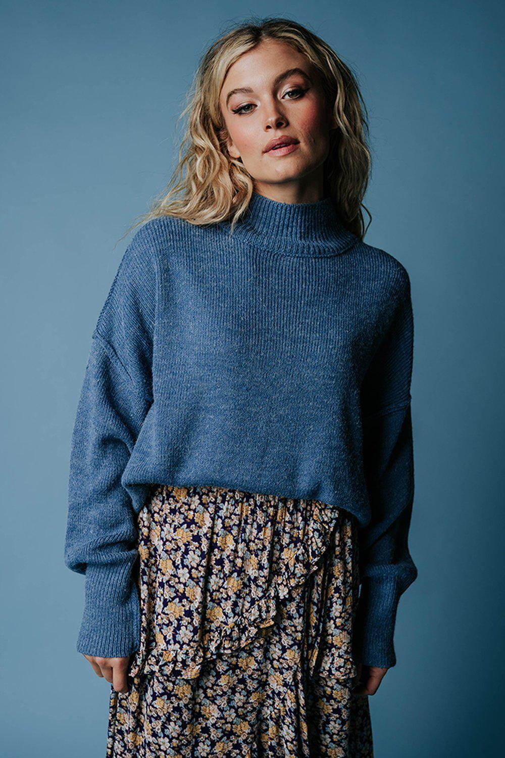 best_seller, One Man Show Pullover in Cornflower, Top, women's clothing, dresses, skirts, coats, jackets, shoes, boots, tops, tee shirts, jeans, free people, levi's, rollas, jumpsuits, bottoms, tops, sweaters, pullovers, pants, shorts, sweats,.