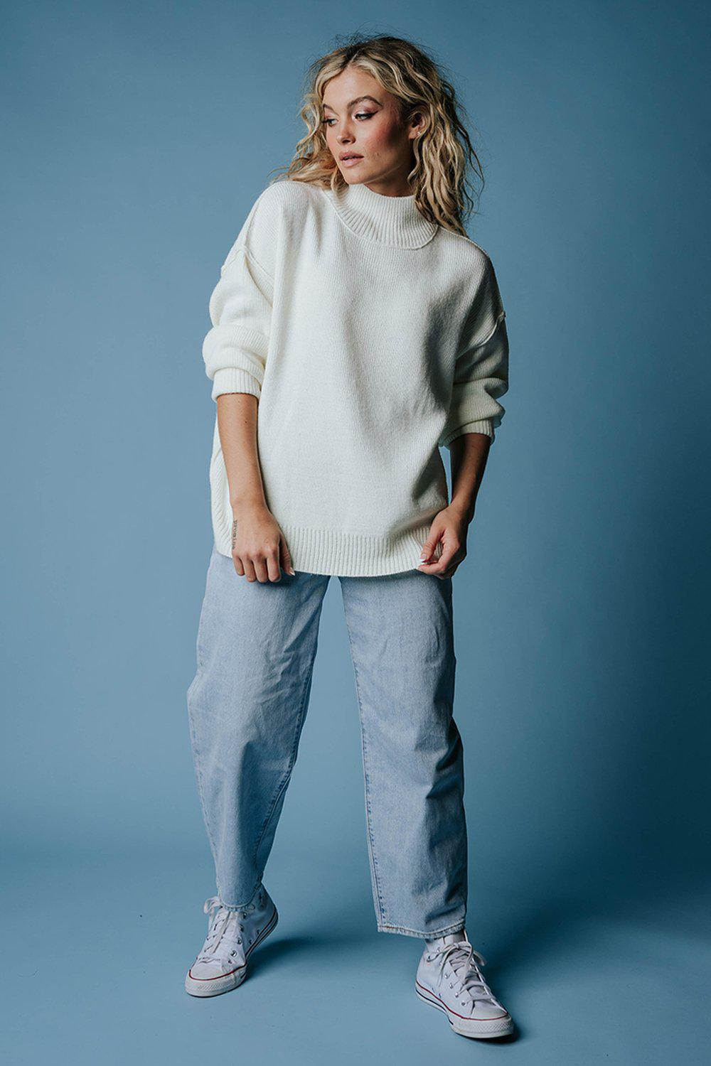 best_seller, One Man Show Pullover in Ivory, Top, women's clothing, dresses, skirts, coats, jackets, shoes, boots, tops, tee shirts, jeans, free people, levi's, rollas, jumpsuits, bottoms, tops, sweaters, pullovers, pants, shorts, sweats,.