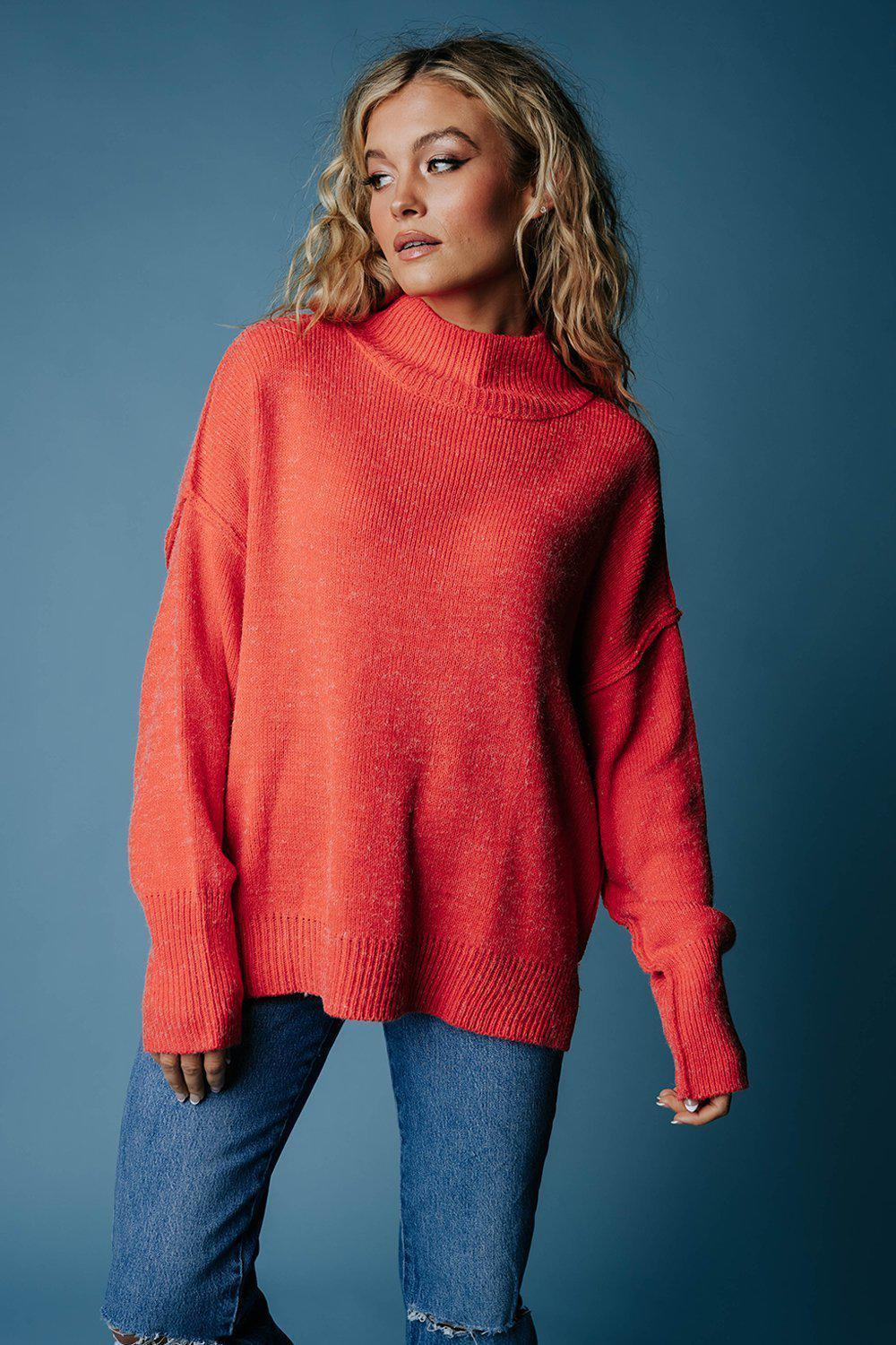 best_seller, One Man Show Pullover in Scarlet, Top, women's clothing, dresses, skirts, coats, jackets, shoes, boots, tops, tee shirts, jeans, free people, levi's, rollas, jumpsuits, bottoms, tops, sweaters, pullovers, pants, shorts, sweats,.