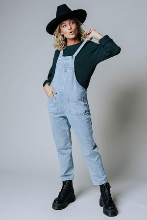 Clad and Cloth, Overall Over It Denim Overalls, Clad & Cloth, Bottom.