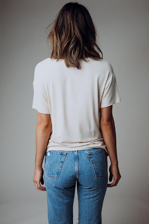 best_seller, Paradise Please Graphic Tee in Stone - FINAL SALE, Tees, women's clothing, dresses, skirts, coats, jackets, shoes, boots, tops, tee shirts, jeans, free people, levi's, rollas, jumpsuits, bottoms, tops, sweaters, pullovers, pants, shorts, sweats,.