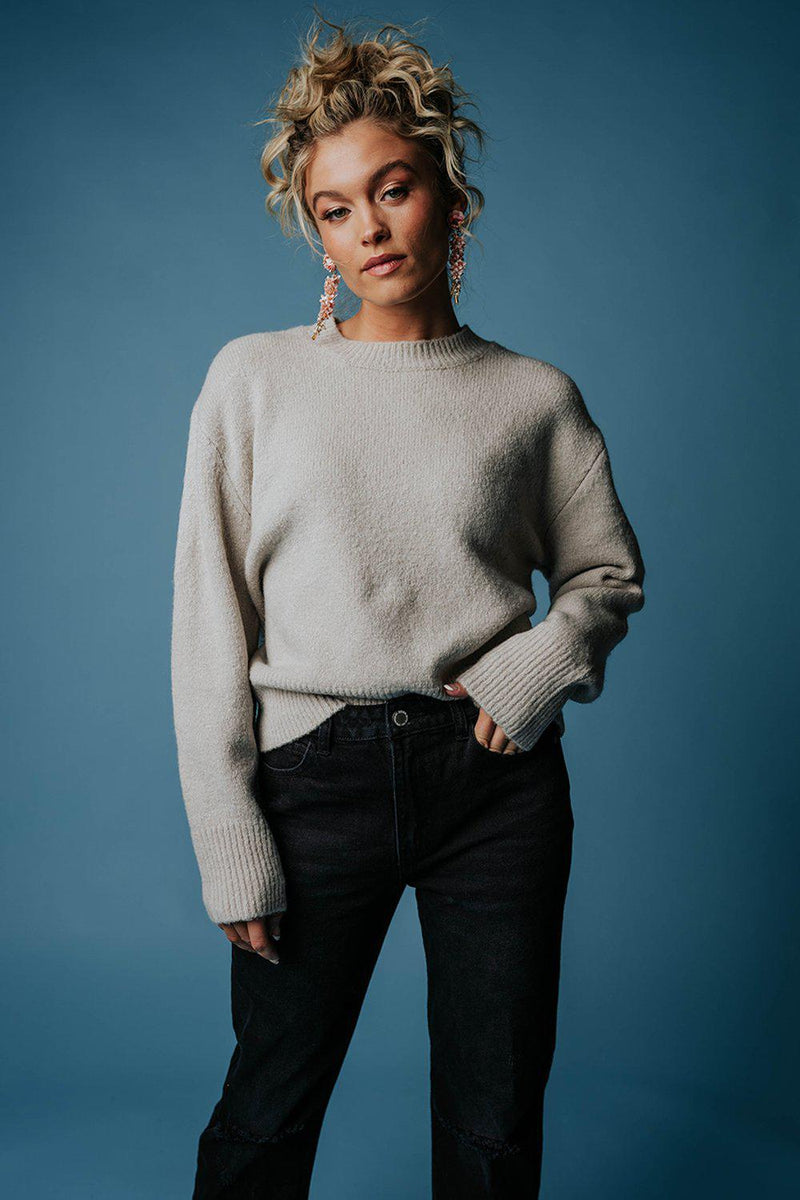 best_seller, Peanut Gallery Sweater in Moth Gray, Top, women's clothing, dresses, skirts, coats, jackets, shoes, boots, tops, tee shirts, jeans, free people, levi's, rollas, jumpsuits, bottoms, tops, sweaters, pullovers, pants, shorts, sweats,.
