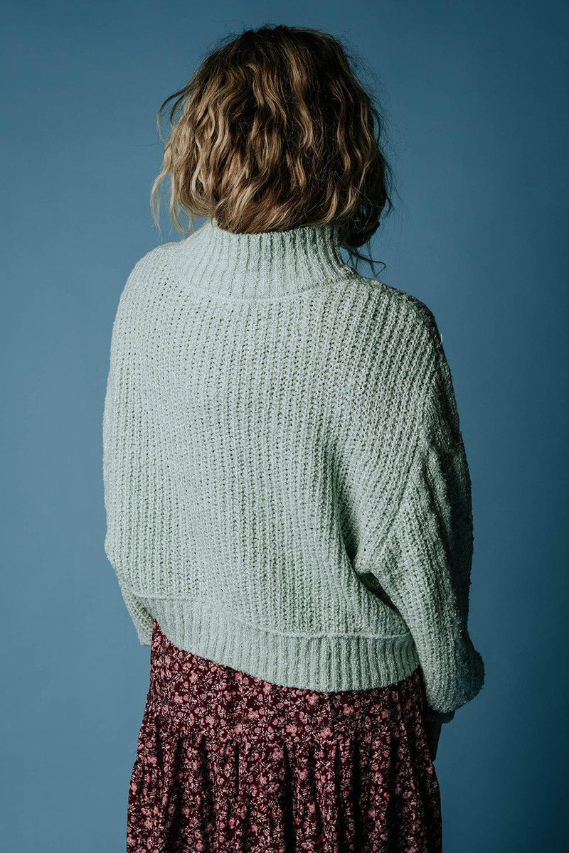 Penny Pullover Sweater in Mint-Top-hyfve-S-Clad & Cloth