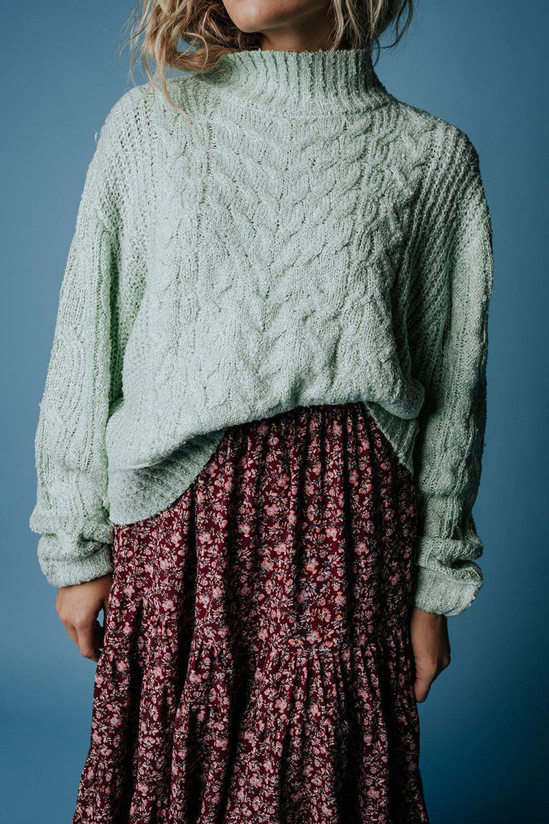 Penny Pullover Sweater in Mint, cladandcloth, hyfve.