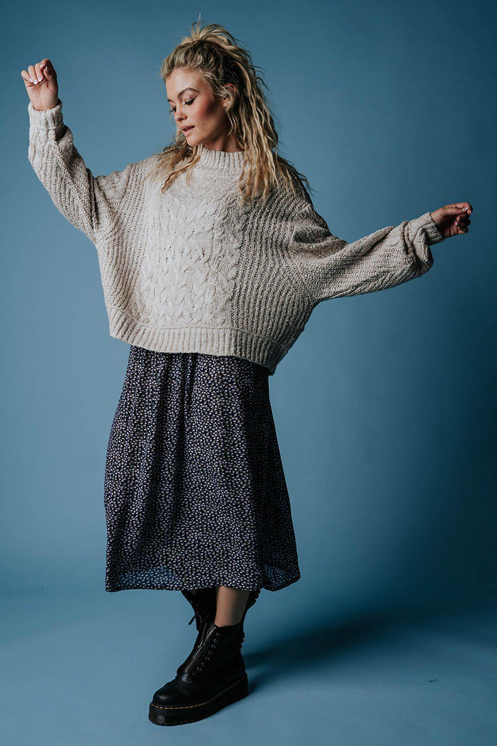 Penny Pullover Sweater in Sand-Top-hyfve-M-Clad & Cloth