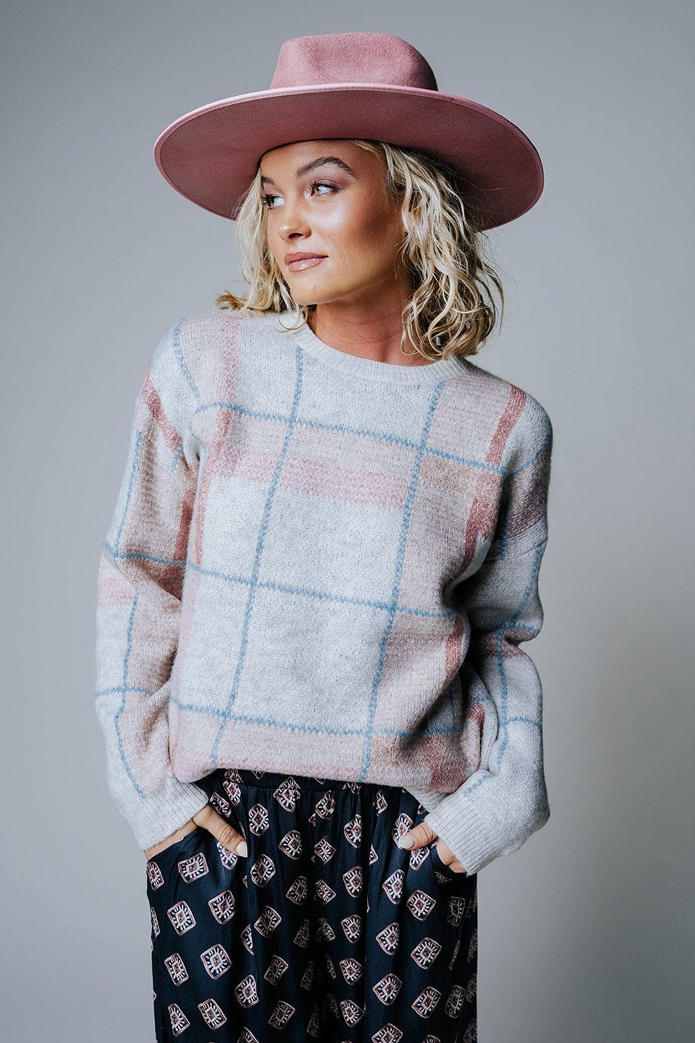 Plaid in Love Pullover-Top-n/a-S-Clad & Cloth
