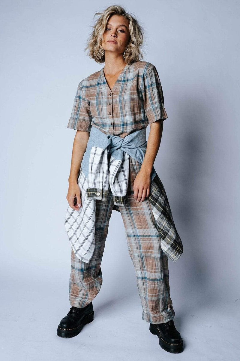 Clad and Cloth, Plaid it's a Jumpsuit, Bobbie Wren, Bottom.