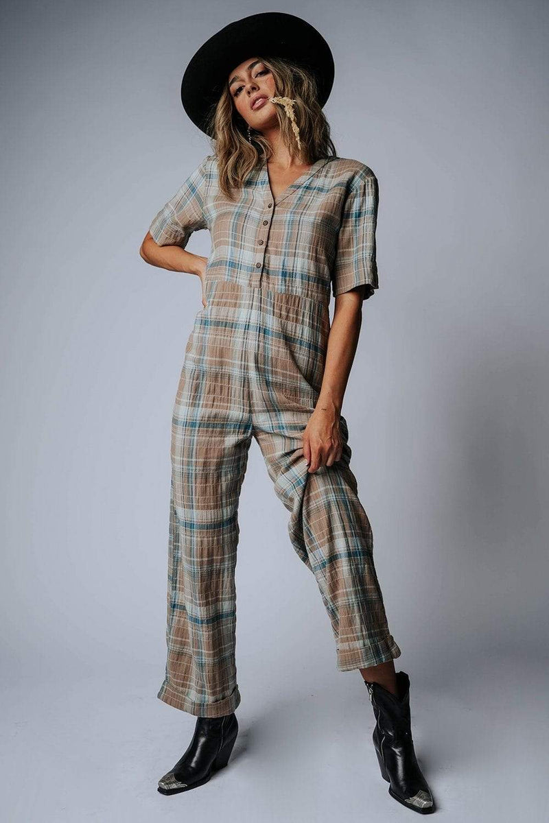 Plaid it's a Jumpsuit, cladandcloth, Bobbie Wren.