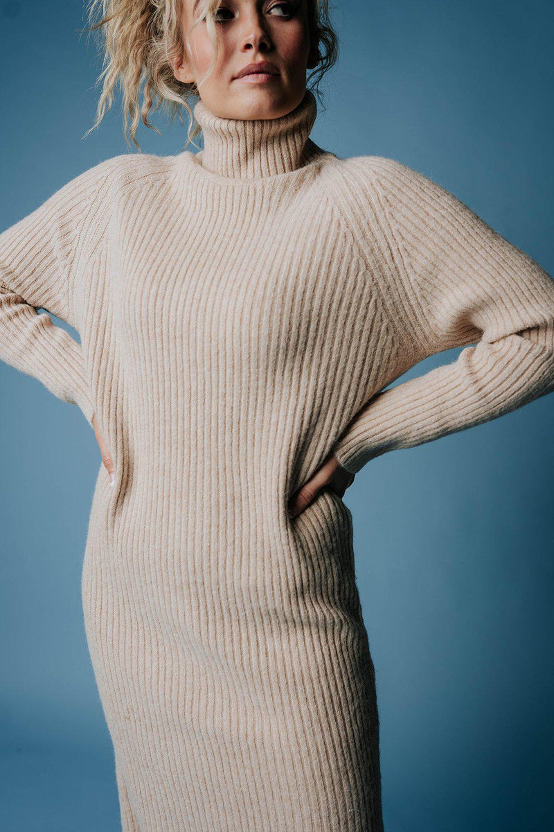 Play Pretend Midi Sweater Dress in Ivory, cladandcloth, n/a.