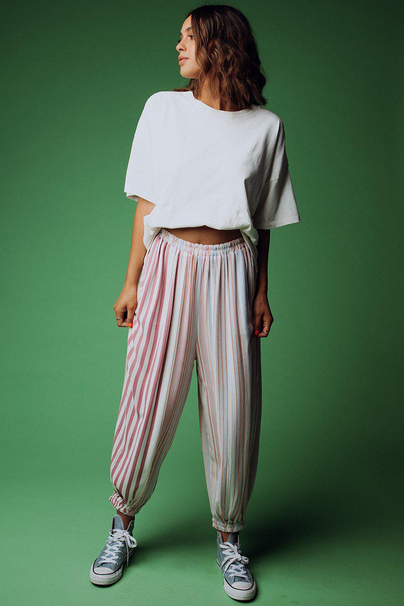 best_seller, Rains Down in Africa Striped Pants - FINAL SALE, Bottom, women's clothing, dresses, skirts, coats, jackets, shoes, boots, tops, tee shirts, jeans, free people, levi's, rollas, jumpsuits, bottoms, tops, sweaters, pullovers, pants, shorts, sweats,.