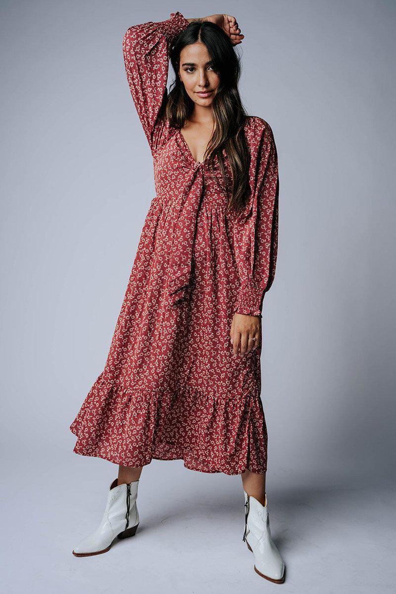 best_seller, Rather Be Floral Midi Dress in Red, Dress, women's clothing, dresses, skirts, coats, jackets, shoes, boots, tops, tee shirts, jeans, free people, levi's, rollas, jumpsuits, bottoms, tops, sweaters, pullovers, pants, shorts, sweats,.