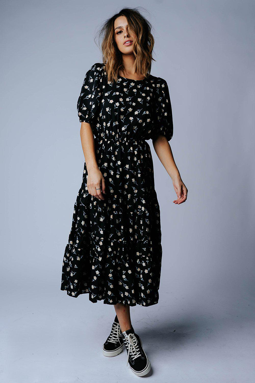 Second Time Around Floral Midi Dress, cladandcloth, n/a.