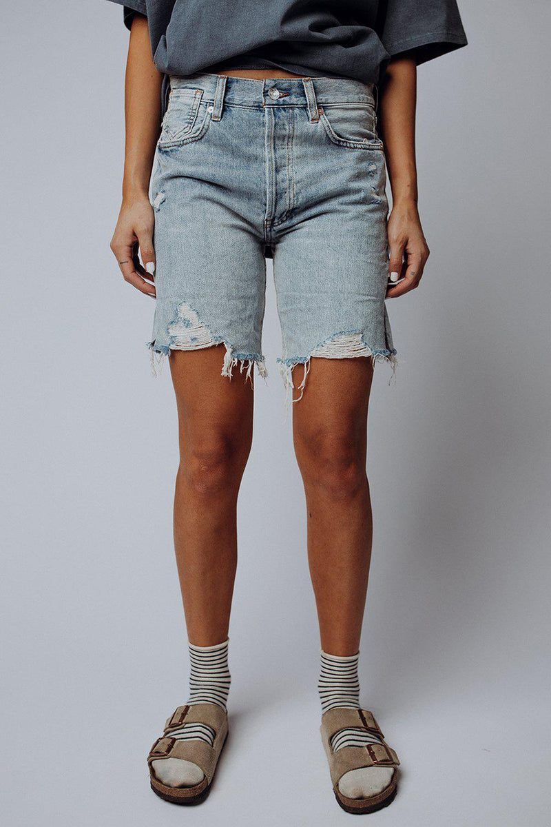Clad and Cloth, Free People Sequoia Shorts in Light Blue Denim, Free People, Bottom.