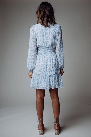 best_seller, Show Stopper Smocked Dress in Blue - FINAL SALE, Dress, women's clothing, dresses, skirts, coats, jackets, shoes, boots, tops, tee shirts, jeans, free people, levi's, rollas, jumpsuits, bottoms, tops, sweaters, pullovers, pants, shorts, sweats,.