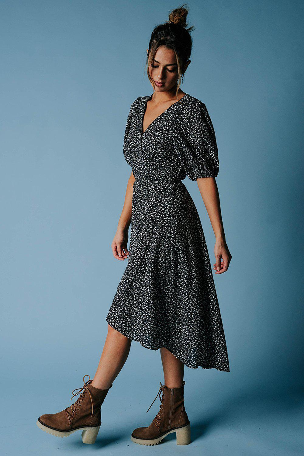 best_seller, Slow Dance Floral Midi Dress - FINAL SALE, Dress, women's clothing, dresses, skirts, coats, jackets, shoes, boots, tops, tee shirts, jeans, free people, levi's, rollas, jumpsuits, bottoms, tops, sweaters, pullovers, pants, shorts, sweats,.
