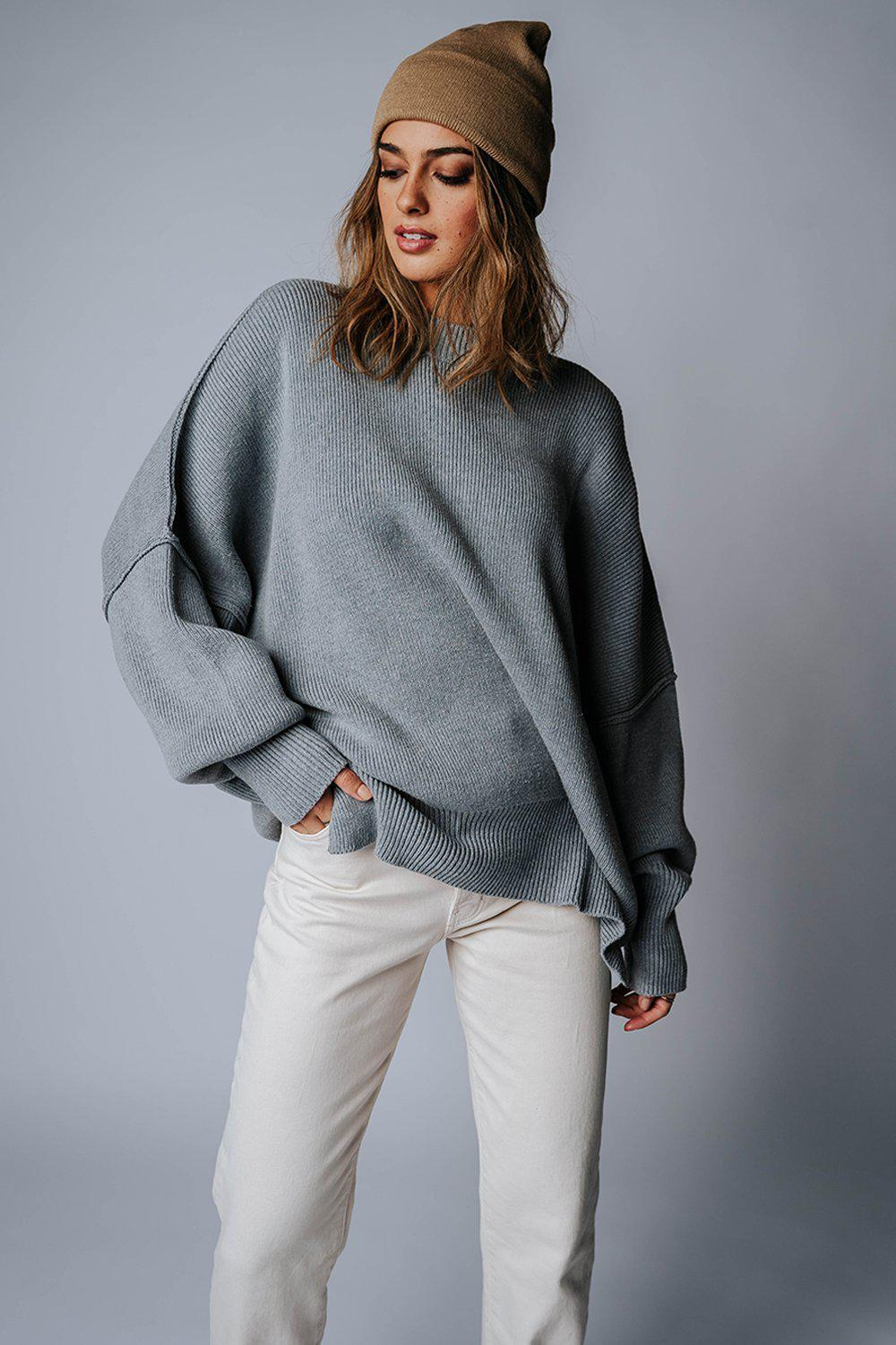 best_seller, State of Emotion Pullover in Grey, Top, women's clothing, dresses, skirts, coats, jackets, shoes, boots, tops, tee shirts, jeans, free people, levi's, rollas, jumpsuits, bottoms, tops, sweaters, pullovers, pants, shorts, sweats,.